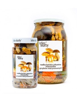 Forest Treasures - Pickled spicy mix mushrooms