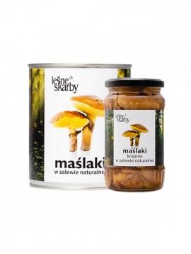Butterpilze - in einer natürlichen Essiggurke in einer Dose