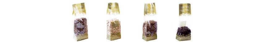getrocknete Pilze Körnungen und Grieß